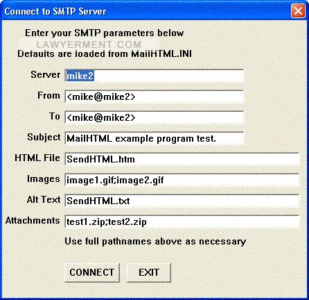 SMTP/POP3/IMAP Email Engine for Visual dBase Screenshot