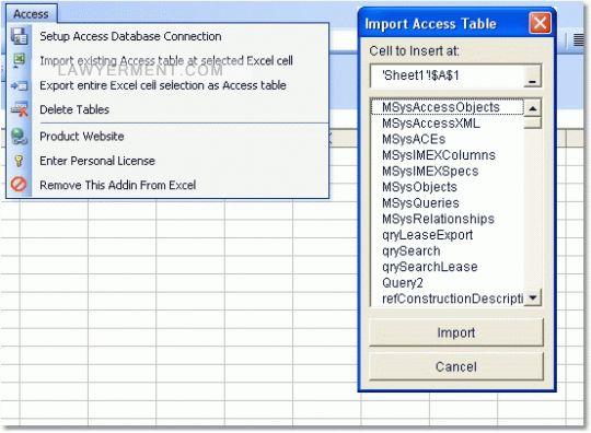 Excel MS Access Import, Export & Convert Software Screenshot