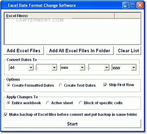 Excel Date Format Change Software Screenshot