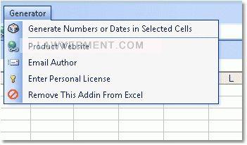 Excel Random Number or Date Generator Software Screenshot
