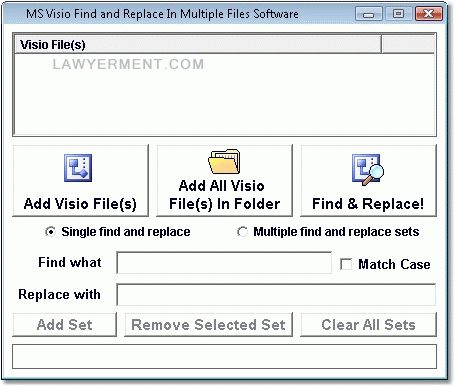 MS Visio Find and Replace In Multiple Files Software Screenshot