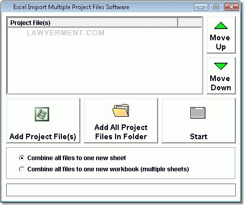 Excel Import Multiple MS Project Files Software Screenshot