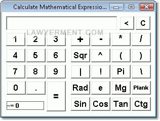Calculate Mathematical Expressions Software Screenshot