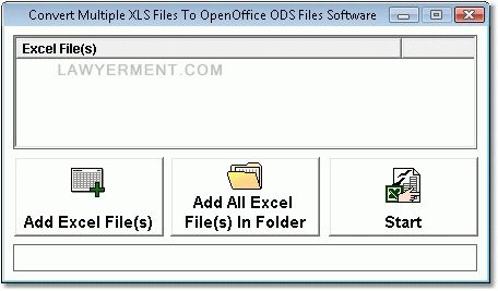 Convert Multiple XLS Files To OpenOffice ODS Files Software Screenshot