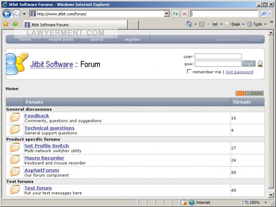 AspNetForum Screenshot