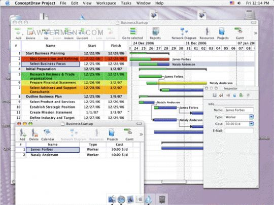 ConceptDraw Project Mac Screenshot