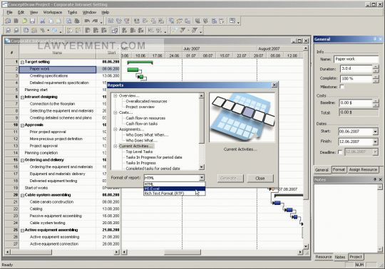 ConceptDraw Project Screenshot