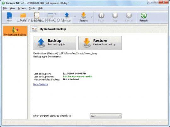 Backup2 NET Screenshot