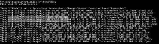 FileList Screenshot
