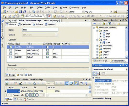 dotConnect for MySQL Screenshot