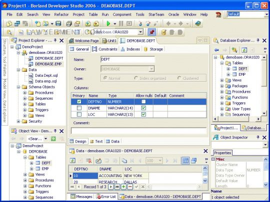 OraDeveloper Tools for Delphi Screenshot