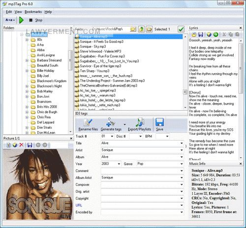mp3Tag Pro Screenshot