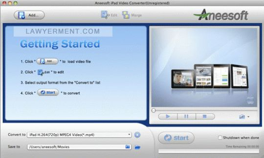 Aneesoft iPad Converter Suite for Mac Screenshot