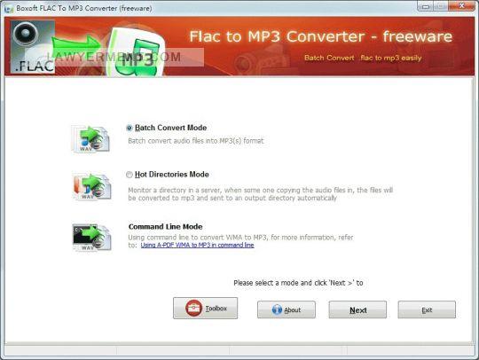 Boxoft FLAC to MP3 Converter Screenshot