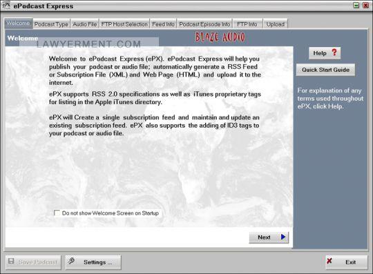 ePodcast Express Screenshot