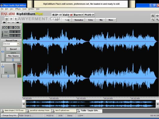 Blaze Audio RipEditBurn Plus Screenshot