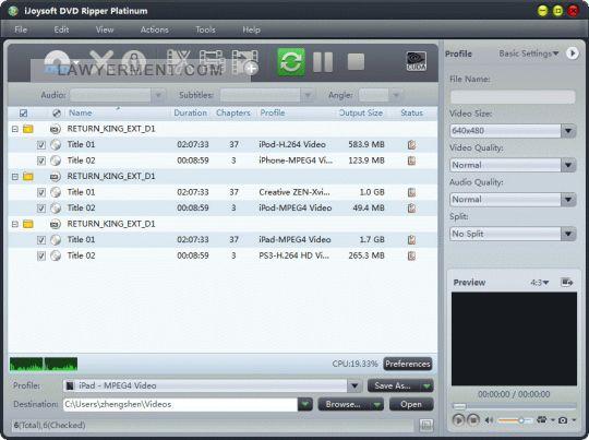 iJoysoft DVD Ripper Platinum Screenshot