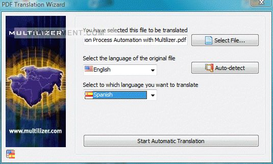Multilizer PDF Translator Screenshot