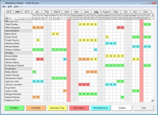 Attendance Planner Screenshot