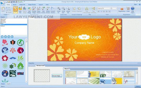 SmartsysSoft Business Card Maker Screenshot