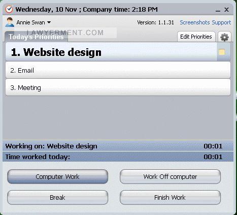 Time Doctor for Mac OS X Screenshot