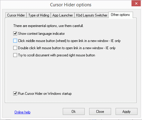 Cursor Hider Screenshot
