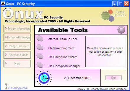 Onux-PC Security Screenshot
