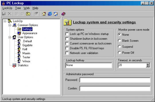 PC LockUp Screenshot