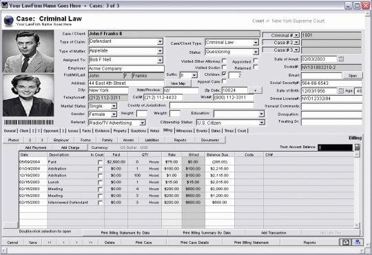 Legal Suite Screenshot
