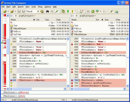 Active File Compare Screenshot
