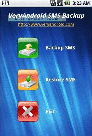 VeryAndroid SMS Backup Screenshot