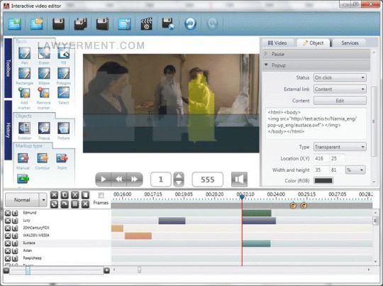 Actio Interactive Video Editor Screenshot