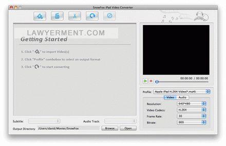 SnowFox iPad Video Converter for Mac Screenshot