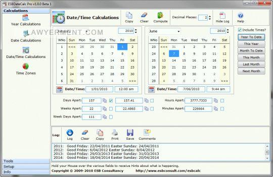 ESBDateCalc Pro Screenshot