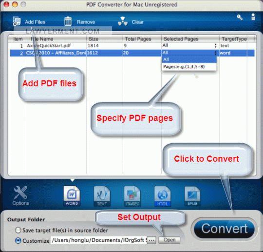 PDF Converter for Mac Screenshot