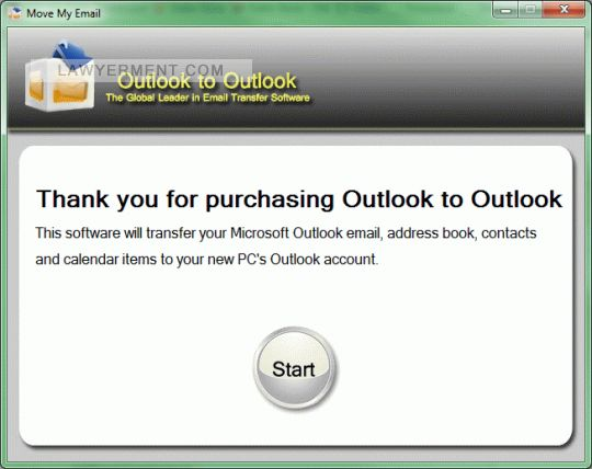 Move My Email: Outlook to Outlook Screenshot