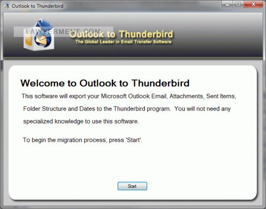 Move My Email: Outlook to Thunderbird 2 0 0 0