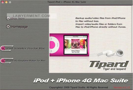 Tipard iPod + iPhone 4G Mac Suite Screenshot