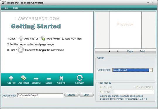 Tipard PDF to Word Converter Screenshot