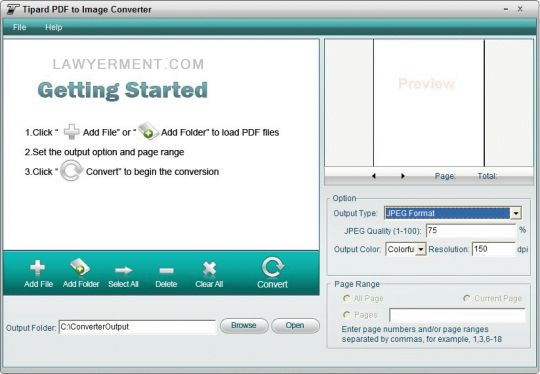 Tipard PDF to Image Converter Screenshot