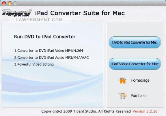 Tipard iPad Converter Suite for Mac Screenshot