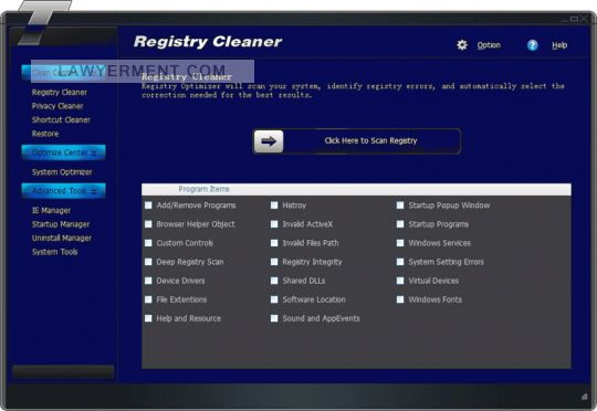 Tipard Registry Cleaner Screenshot
