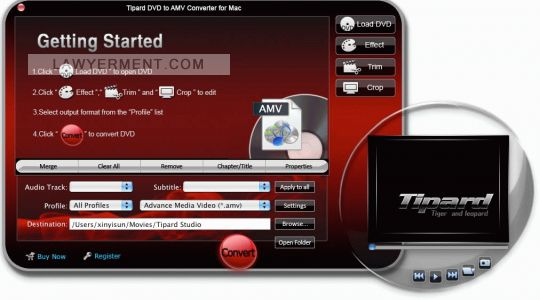Tipard DVD to AMV Converter for Mac Screenshot