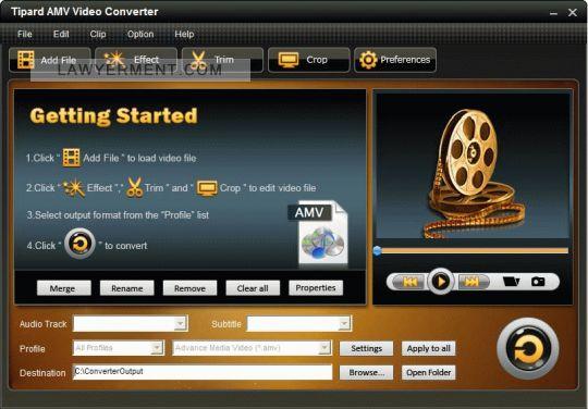 Tipard AMV Video Converter Screenshot