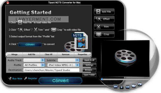 Tipard M2TS Converter for Mac Screenshot