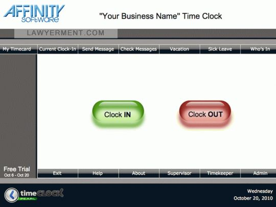 TimeClock Pearl (Mac) Screenshot