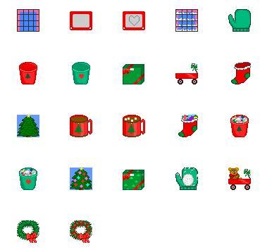 Holiday Recycle Bin Icons Screenshot