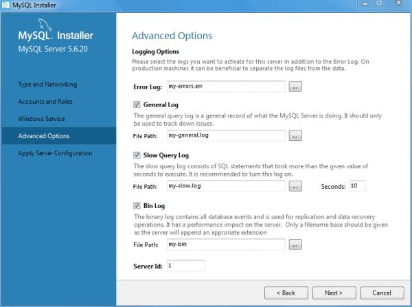MySQL (Windows) Screenshot