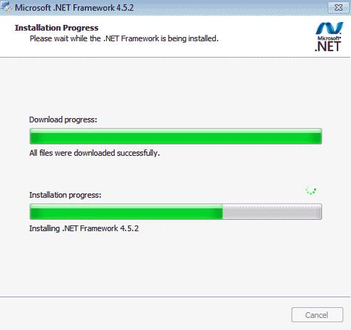 Microsoft .NET Framework 4.5.2 Screenshot