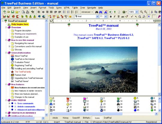 TreePad Business Edition Screenshot